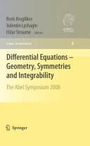 Differential Equations   Geometry  Symmetries and Integrability