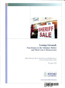 Losing Ground: Foreclosures in the Subprime Market & Their Cost to Homeowners [Pdf/ePub] eBook