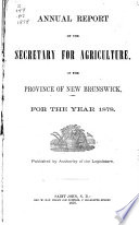 Annual Report Of The Secretary Of Agriculture