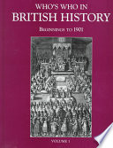 Who S Who In British History A H Book PDF