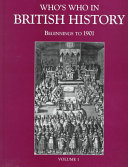 Who s who in British History  A H