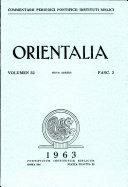 Orientalia: Vol. 32, No. 3