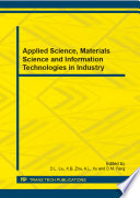 Applied Science Materials Science And Information Technologies In Industry Book PDF