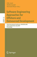 Pdf Software Engineering Approaches for Offshore and Outsourced Development Telecharger