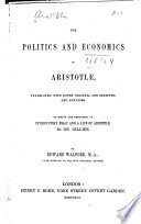 The Politics and Economics of Aristotle by Aristotle PDF