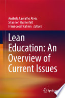 Lean Education  An Overview of Current Issues Book