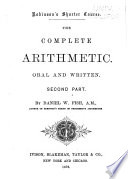 The Complete Arithmetic, Oral and Written