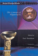 The Canons of Hippolytus