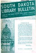 South Dakota Library Bulletin Book