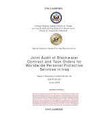 Joint Audit of Blackwater Contract and Task Orders for Worldwide Personal Protective Services in Iraq