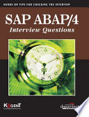 Sap Abap 4 Interview Questions Hands On For Cracking The Interview