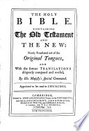 The Holy Bible, Containing the Old Testament and the New: ... Pdf/ePub eBook