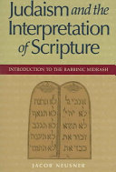 Judaism and the Interpretation of Scripture