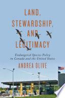 Land Stewardship And Legitimacy