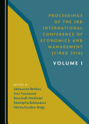 Pdf Proceedings of the 3rd International Conference of Economics and Management (CIREG 2016) Volume I Telecharger