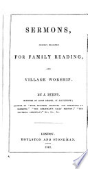 Sermons  Chiefly Designed for Family Reading  and Village Worship