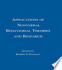 Applications of Nonverbal Behavioral Theories and Research