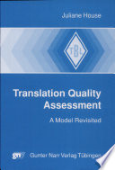 Translation Quality Assessment