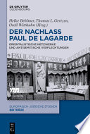 Der Nachlass Paul de Lagarde