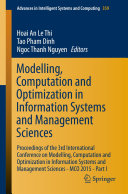 Modelling  Computation and Optimization in Information Systems and Management Sciences
