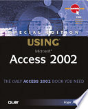 Special Edition Using Microsoft Access 2002 Book PDF