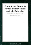 Pdf Crack Arrest Concepts for Failure Prevention and Life Extension