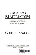 Escaping Materialism Book