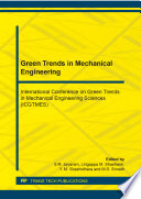 Green Trends in Mechanical Engineering