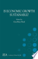 Is Economic Growth Sustainable