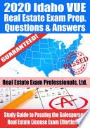 2020 Idaho VUE Real Estate Exam Prep Questions & Answers