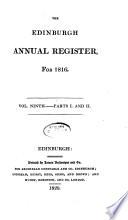 The Edinburgh Annual Register For 1816