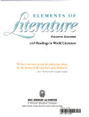 Elements of Literature Book