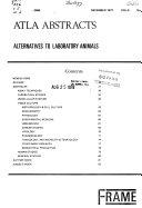 ATLA Abstracts, Alternatives to Laboratory Animals ebook