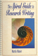The Spiral Guide To Research Writing Book PDF