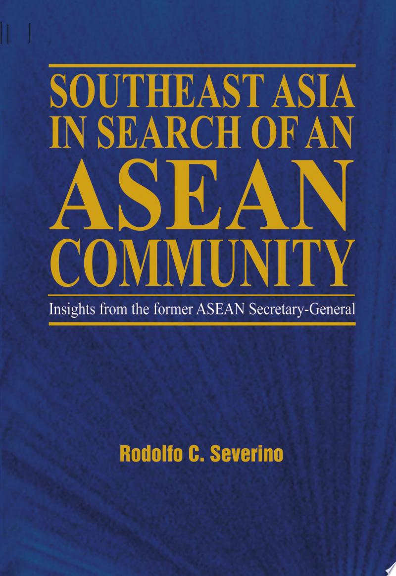 Southeast Asia in Search of an ASEAN Community banner backdrop