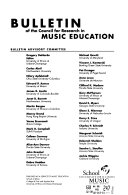 Bulletin of the Council for Research in Music Education