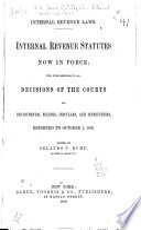 Internal Revenue Laws  Internal Revenue Statutes Now in Force