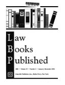 Law Books Published Book