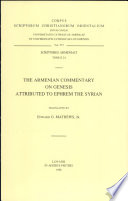 The Armenian Commentary On Genesis Attributed To Ephrem The Syrian