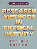Research Methods in Physical Activity Book