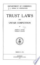 Trust Laws And Unfair Competition PDF
