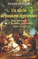Pdf Un siècle de passions algériennes Telecharger