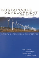Sustainable Development and Canada Book