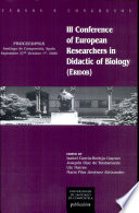 Proceedings of the III Conference of European Researchers in Didactic of Biology (ERIDOB)