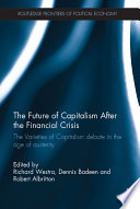 The Future of Capitalism After the Financial Crisis