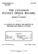 Pdf The Canadian Patent Office Record and Register of Copyrights and Trade Marks