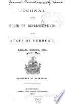 Journal of the House of the State of Vermont