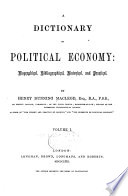 A Dictionary Of Political Economy