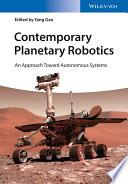 Contemporary Planetary Robotics Book