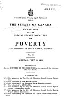 Proceedings Of The Special Senate Committee On Poverty